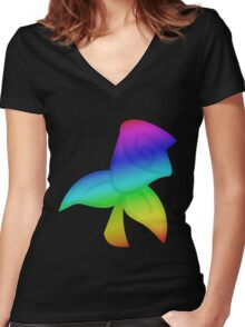 MLP - Cutie Mark Rainbow Special - Roseluck Women's Fitted V-Neck T-Shirt