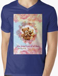 A true friend shows love at all times. Proverbs 17:17 T-Shirt