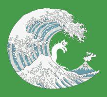 Psychodelic Kunagawa Surfer Cat One Piece - Short Sleeve