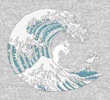 Psychodelic Kunagawa Surfer Cat Kids Tee