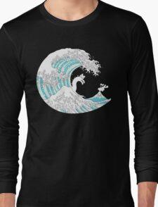 Psychodelic Kunagawa Surfer Cat Long Sleeve T-Shirt
