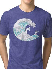Psychodelic Kunagawa Surfer Cat Tri-blend T-Shirt