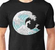 Psychodelic Kunagawa Surfer Cat Unisex T-Shirt