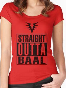 Straight Outta Baal Women's Fitted Scoop T-Shirt