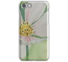 Watercolor painting of a white flower iPhone Case/Skin