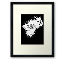 Game of doge Game of Thrones Framed Print