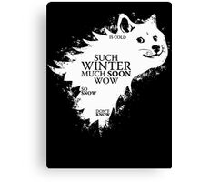 Game of doge Game of Thrones Canvas Print