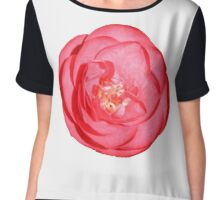 Red Flower Chiffon Top