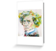 HECTOR BERLIOZ - watercolor portrait Greeting Card