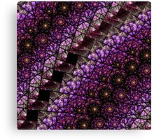 Purple Stained Glass Fractal Canvas Print