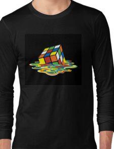 Melting Rubix Cube Long Sleeve T-Shirt
