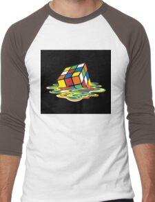 Melting Rubix Cube Men's Baseball ¾ T-Shirt