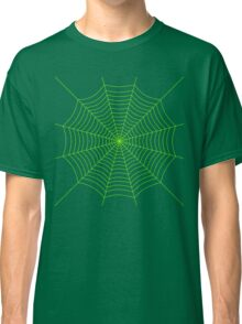 Neon green spider web Classic T-Shirt