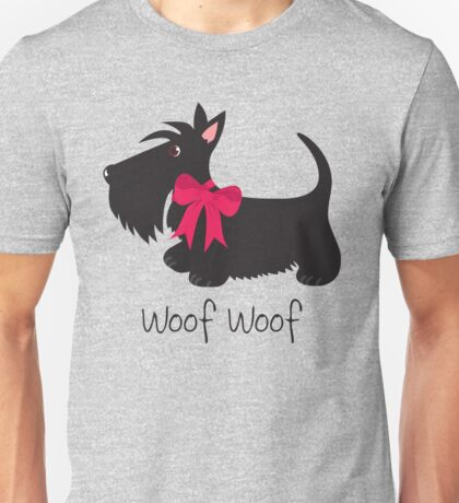 Woof Woof Scottie Dog Unisex T-Shirt
