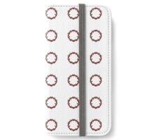 Red Flower Circle iPhone Wallet/Case/Skin