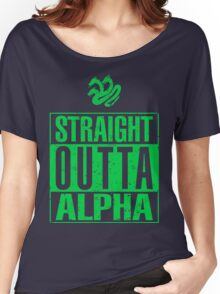 Straight Outta Alpha Women's Relaxed Fit T-Shirt