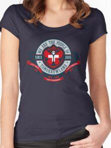 People of Tomorrowland Vintage Flags logo -  Switzerland - Suisse - Schweiz - svizzera Women's Fitted Scoop T-Shirt