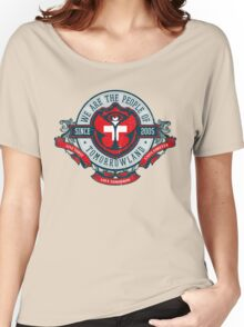 People of Tomorrowland Vintage Flags logo -  Switzerland - Suisse - Schweiz - svizzera Women's Relaxed Fit T-Shirt