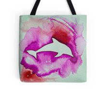 Dolphin in pink Tote Bag