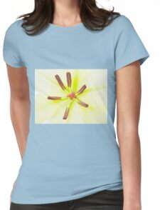 Lily flower close up Womens Fitted T-Shirt