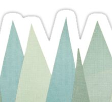 Snowy Mountains Sticker