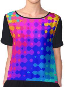 Totally Trippy Hippy Rainbow Chiffon Top