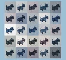 Fifty Shades of Grey Scottie Dogs (25 shades actually) Kids Tee