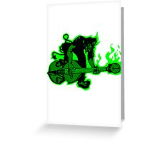 Psychobilly Upright Bass Greeting Card