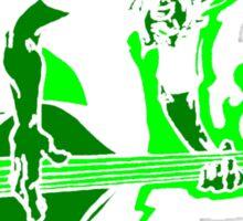 Psychobilly Upright Bass Sticker