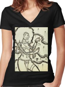 Malora Queen of Seven Mothers Women's Fitted V-Neck T-Shirt