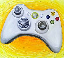 XBOX 360 Controller Impressionist Painting by ChristineWilson