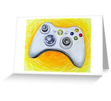 XBOX 360 Controller Impressionist Painting Greeting Card