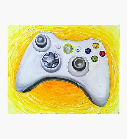 XBOX 360 Controller Impressionist Painting Photographic Print