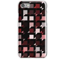 red repeating cube pattern iPhone Case/Skin