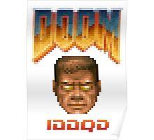 Doom iddqd face Poster