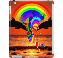 Beautiful fairy and dolphins iPad Case/Skin