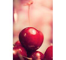 Sweet Red Cherry Photographic Print