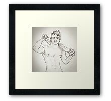 man  Framed Print