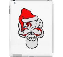 weihnachten santa klaus weihnachtsmann geschenke kopf gesicht nikolaus winter zombie lustig untot horror monster halloween  iPad Case/Skin