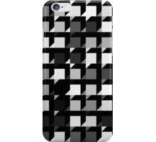 black and white repeating cube pattern iPhone Case/Skin