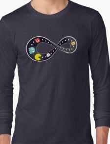 Pacman Retro Mobius Strip Long Sleeve T-Shirt