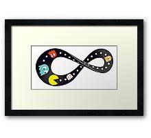 Pacman Retro Mobius Strip Framed Print