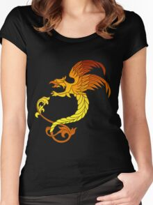 Griffin griffon gryphon in flaming colours Women's Fitted Scoop T-Shirt