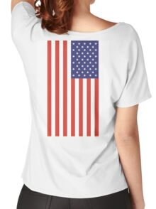 American Flag, Portrait, USA, Stars & Stripes, America, Pure & simple Women's Relaxed Fit T-Shirt