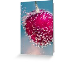 Cherry And Bubbly Greeting Card