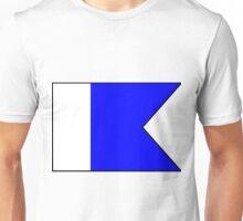 Letter A / Diver Down Scuba Flag Unisex T-Shirt