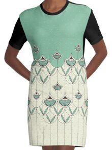 Blooming Winter 2 Graphic T-Shirt Dress