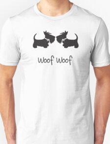Double Scottie – Woof Woof Unisex T-Shirt