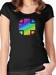 MLP - Cutie Mark Rainbow Special - Nurse Redheart V3 Women's Fitted Scoop T-Shirt