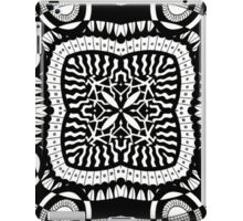 Black and White Retro Abstract Design iPad Case/Skin